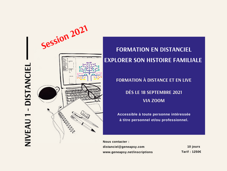 en distanciel : Niveau 1 session 2021