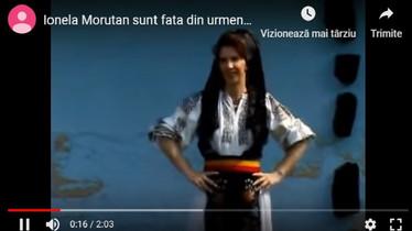 Ionela Moruțan Sunt fată din Urmeniș
