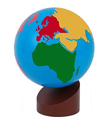 Globo Continente Colorido