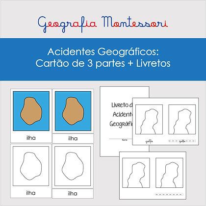 Cartão de 3 Partes + Livretos Acidentes Geográficos