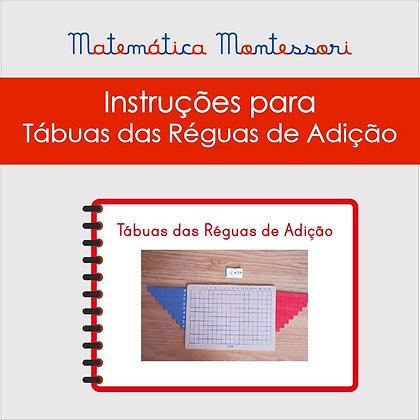 Instruções para Tábuas das Réguas de Adição