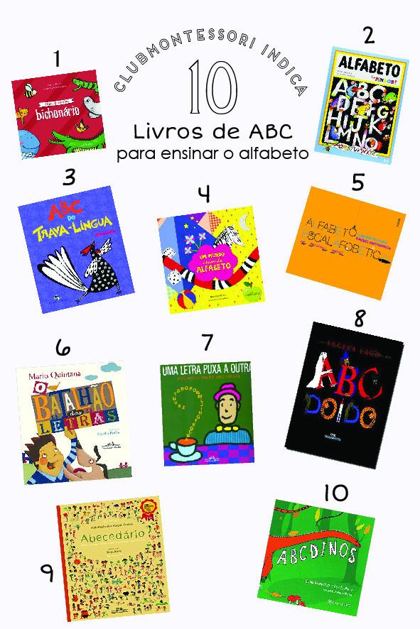 LISTA DE 10 LIVROS SOBRE O ABC