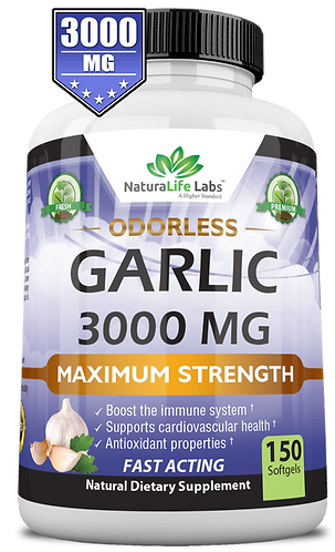 Pure Garlic 3,000 mg 150 soft gels