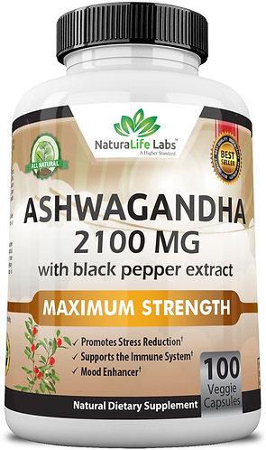 Organic ashwagandha 2,100 mg 100 veggie capsules