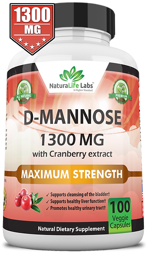D-mannose 1300 mg with cranberry extract
