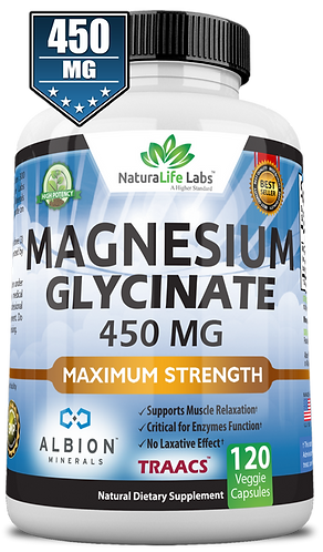 Magnesium glycinate 450 mg elemental