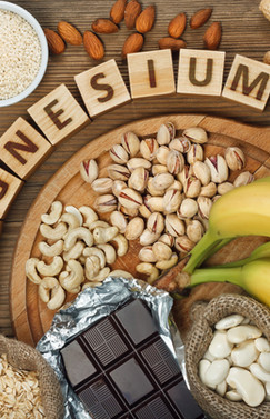 Products containing magnesium_ bananas, pumpkin seeds, blue poppy seed, cashew nuts, beans