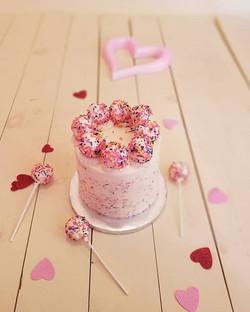 Vanilla Cake Truffle Birthday Cake