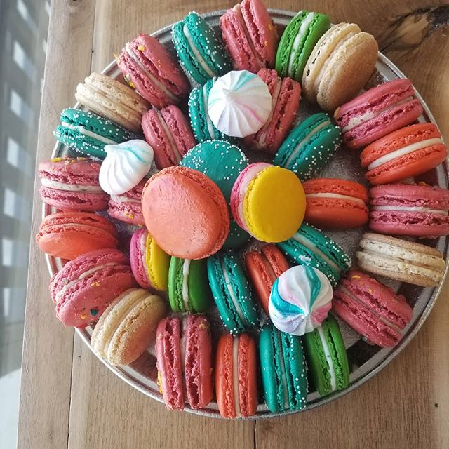 French macaron platters available for yo