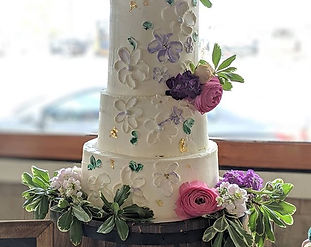 One of the cakes I did for the wedding r