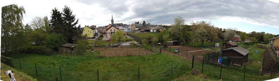 Vue panoramique côté jardin