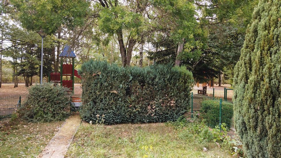Jardin et place de jeux