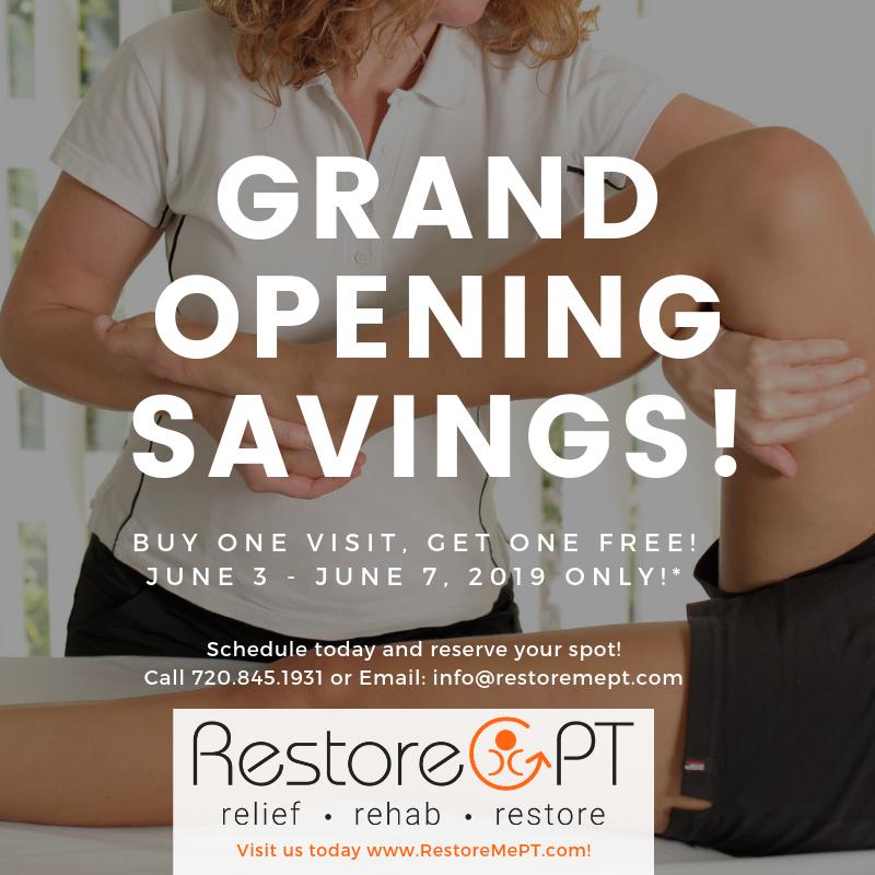 Restore PT Grand opening specials