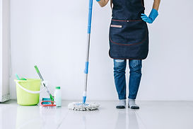 Housekeeping and cleaning concept, Happy