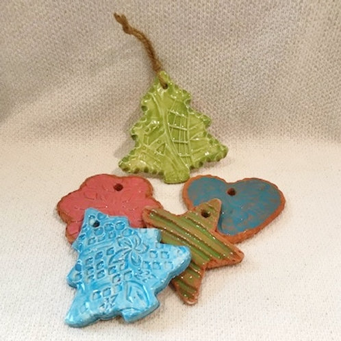 """HANDMADE CERAMIC ORNAMENTS FROM THE """"SOLE"""" (of your shoe!) 11/6, 11/20 INFO"""