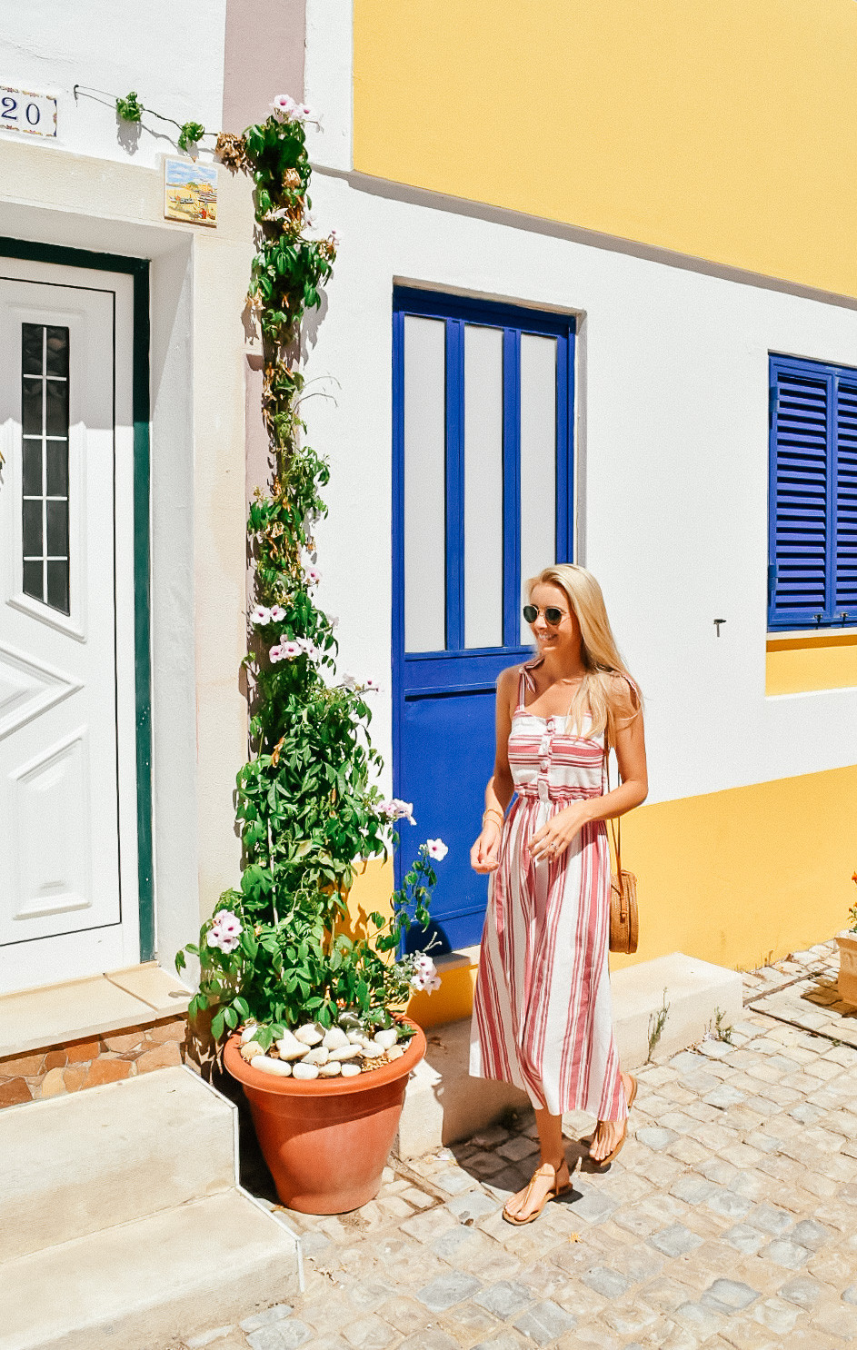 What I Wore on Vacation   Summer 2018   Zara Linen Striped dress   A Style Alike