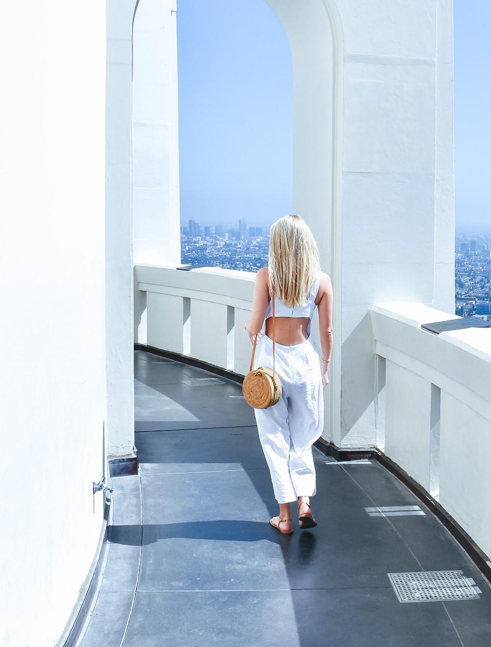 ASOS white linen jumpsuit