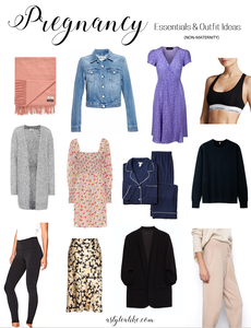 Pregnancy Wardrobe Essentials & Outfit Ideas l Non-Maternity Clothes l A Style Alike