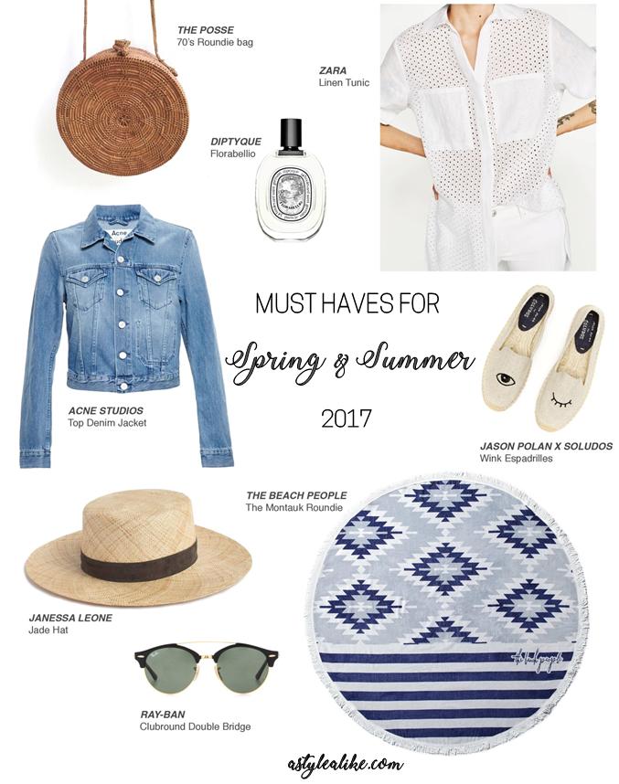 Spring/Summer Must-Haves 2017