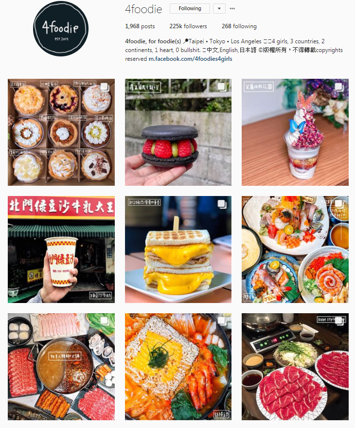 10 Best Foodie Instagrams in Taipei | A Style Alike