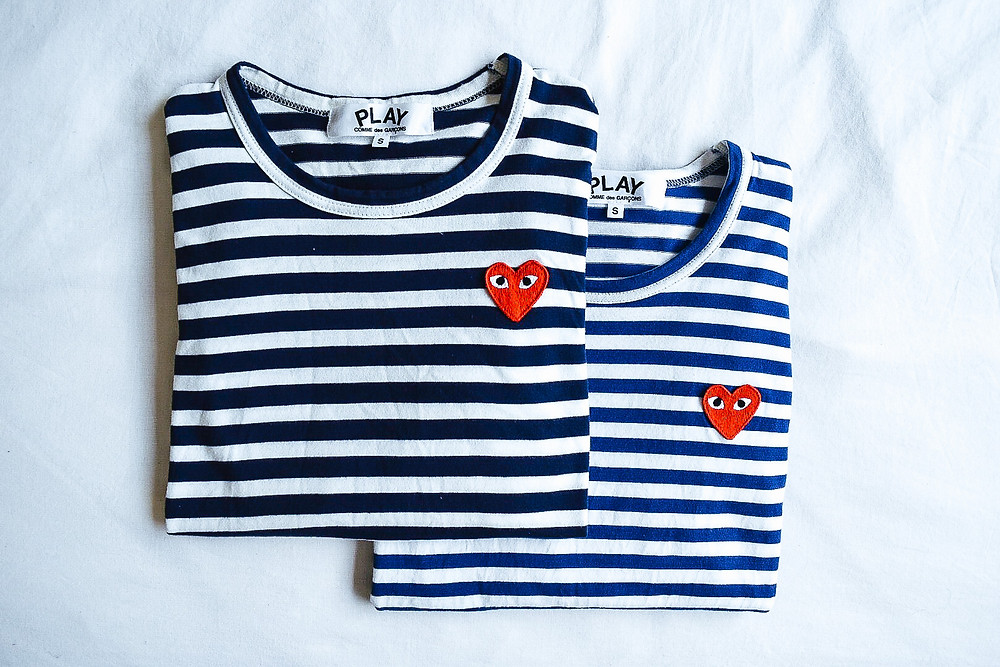 Comme Des Garcons PLAY Striped Shirts