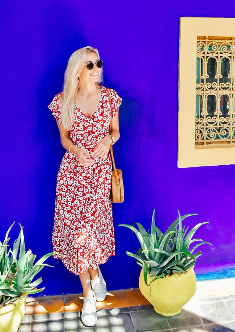 What I Wore on Vacation | Summer 2018 | Mango Midi Printed dress | A Style Alike