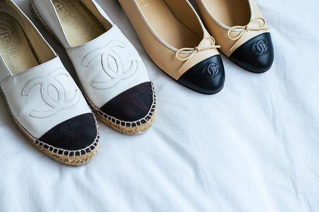 buy popular faa68 c57de CHANEL Espadrilles & Ballet Flats