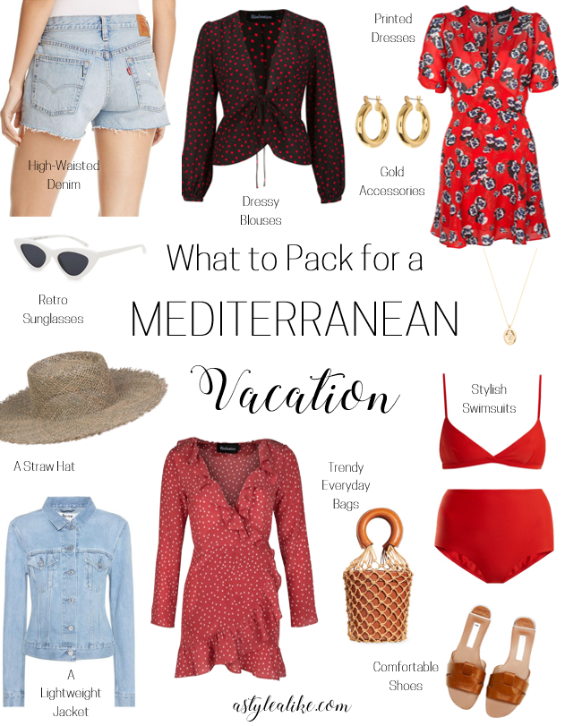 What to Pack for a Mediterranean Vacation l A Style Alike l Travel