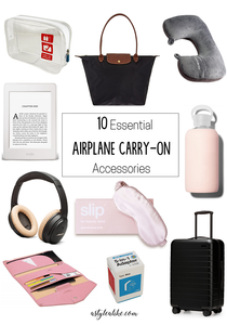 10 Essential Airplane Carry-On Accessories ┃ A Style Alike