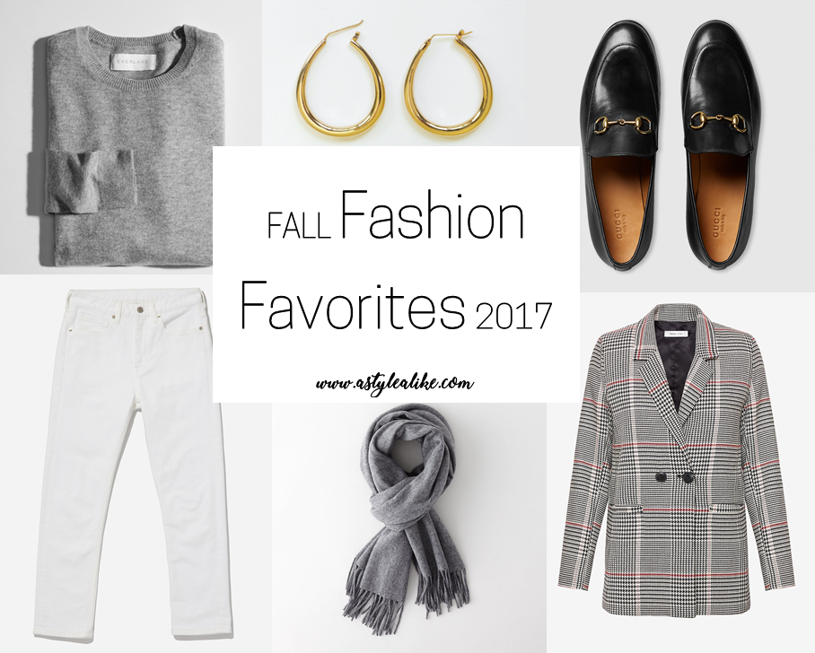 Fall Fashion Favorites 2017