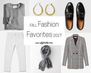 Fall Fashion Favorites 2017