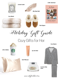 Holiday Gift Guide l Cozy Gifts for Her l Christmas Gift Ideas 2019 l A Style Alike