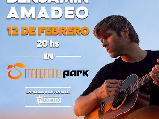 Benjamín Amadeo se presenta en Mandarine Park