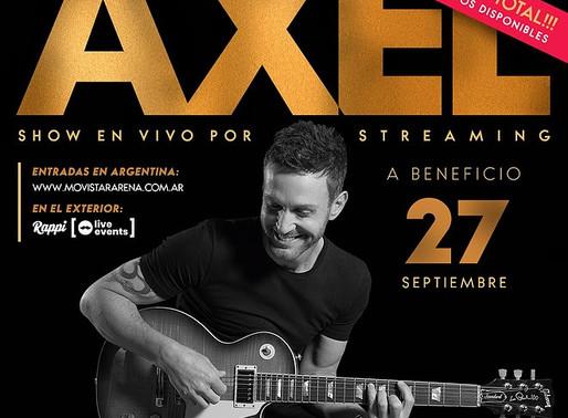 AXEL ofrecerá su primer show vía streaming desde el Movistar Arena