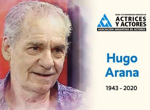 Murió el actor Hugo Arana
