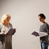 Actresses Reading Script