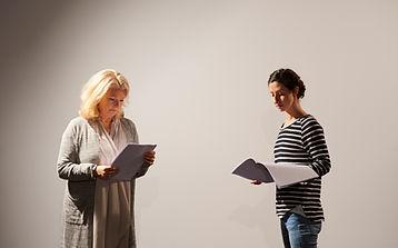 Actresses Reading Script