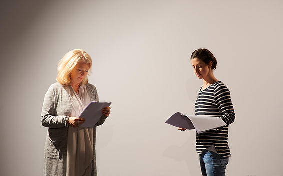 2 Actresses rehearsing