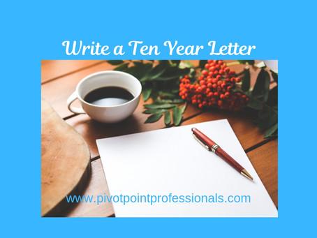 Write a Ten Year Letter