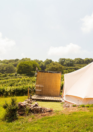 Lower bell tent all battoned down