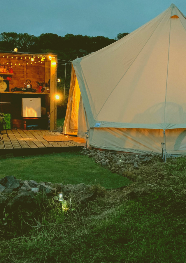 Lower Bell Tent at night