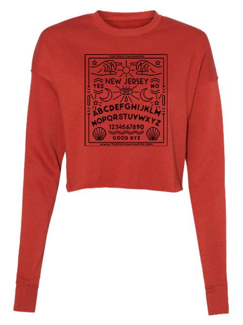 NJ Ouija Cropped Sweatshirt - Brick