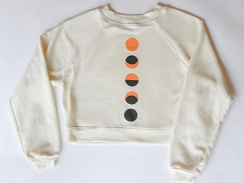 Many Moons Cream Cropped Sweatshirt