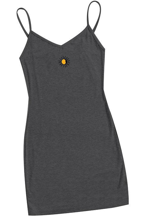 Mini Suns Slip Dress - Charcoal
