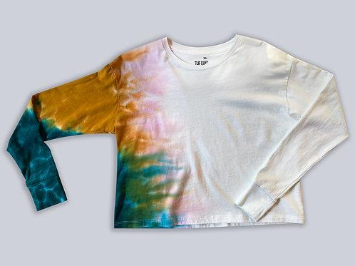 Tricolor Longsleeve Crop Tshirt
