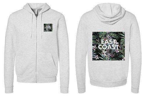 East Coast Floral Zip Up Hoodie