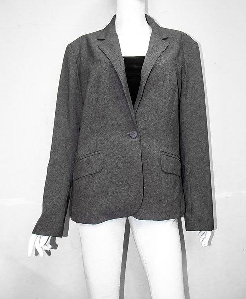 Women's Grey Charcoal Blazer Size 1X