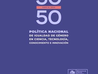 Se aprueba Política Nacional de Igualdad de Género en Ciencia, Tecnología, Conocimiento e Innovación