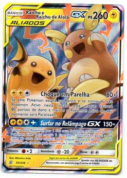 Raichu e Raichu de Alola GX (54/236)