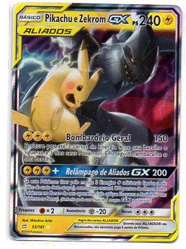 Pikachu e Zebrom GX (33/181)